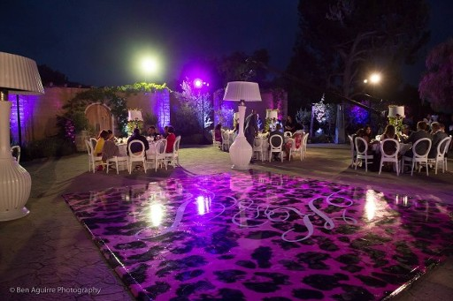 Celebrity Wedding, Seamless dance floor, print dance floor, high gloss dance floor, Dance floor
