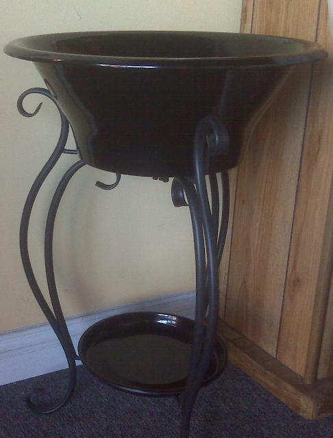Beverage Tub on Iron Stand Available in Black or White