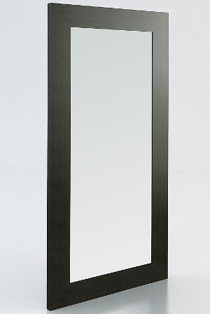 Full Length Mirror with Black wood Frame 37 inch wide x 74 inch tall